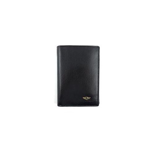 e8081c746d733 ▷ Czarny męski portfel skórzany 314-2-1-1 (PETERSON) - opinie ...