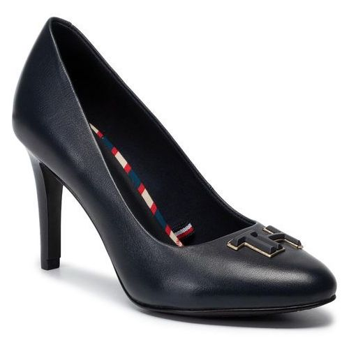 Szpilki TOMMY HILFIGER - Essential Leather Pump FW0FW04424 Black 990