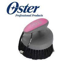 Oster - face finishing brush - szczotka dla koni do łba z naturalnego włosia, różowa