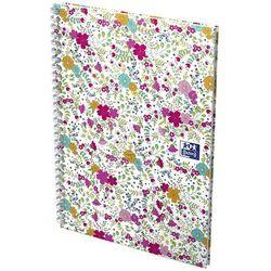 Notatnik floral 2 spirale a6 50kartkowy 90g k5x5 marki Oxford