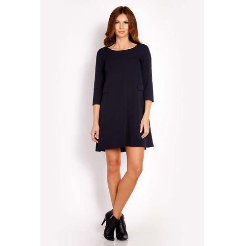 1b94d37415 Granatowa sukienka mini z patkami imitującymi kieszenie marki Lou-lou -  Zdjęcie produktu