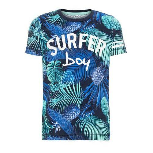 koszulka 'nmmjukka ss top' niebieski / niebieska noc / nefryt / biały marki Name it