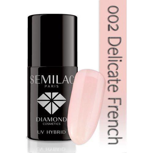 Lakier hybrydowy 002 delicate french - transparentny - 7 ml marki Semilac