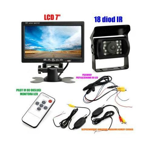 Bezprzewodowa kamera cofania/parkowania do tira, busa, campera.. + monitor lcd 7