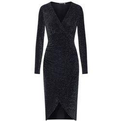 Boohoo Sukienka etui 'Shimmer Plunge' czarny