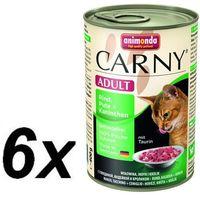 ANIMONDA Carny Adult smak: wołowina, indyk i królik 400g (4017721835107)
