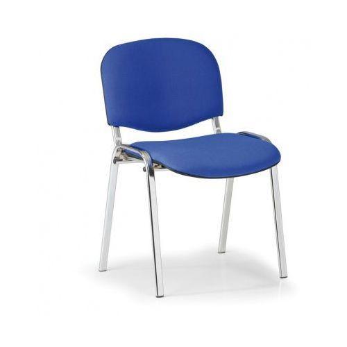B2b partner Krzesło konferencyjne viva - chromowane nogi, niebieske