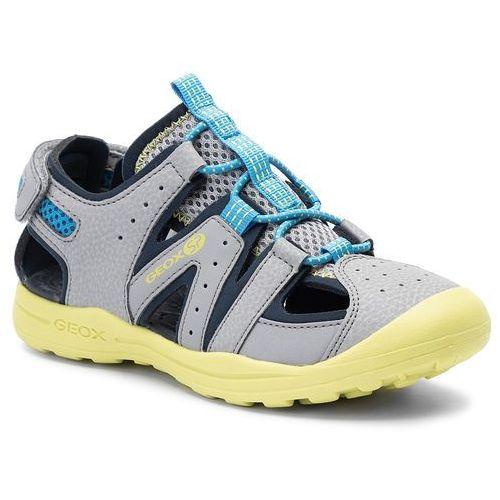 Sandały GEOX - J Vaniett B. A J925XA 05014 C0666 S Grey/Lime, kolor szary