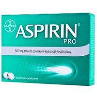 Aspirin PRO aspiryna 500mg lek na ból głowy migrenę grypa przeziębienie 8tabl