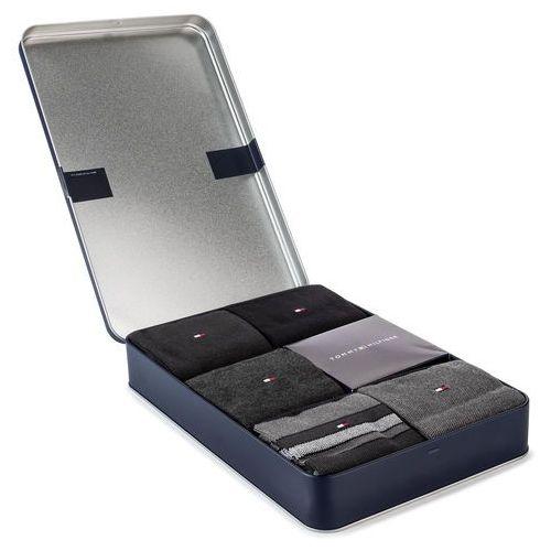 Zestaw 5 par wysokich skarpet męskich TOMMY HILFIGER - 492005001 Black 200, kolor szary
