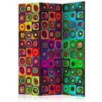 Parawan do mieszkania 3-częściowy - Kolorowy abstrakcjonizm 135 szer. 172 wys.