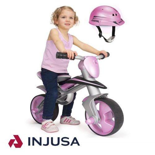 INJUSA Rowerek Biegowy JUMPER Różowy + kask