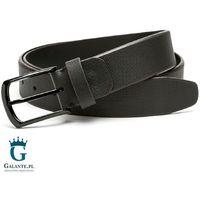 Pasek skórzany czarny do spodni jeansów miguel bellido 4515-35-0819-09