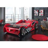Vipack Łóżko auto samochód grand turismo czerwony, łóżko dla dziecka, dla chłopca