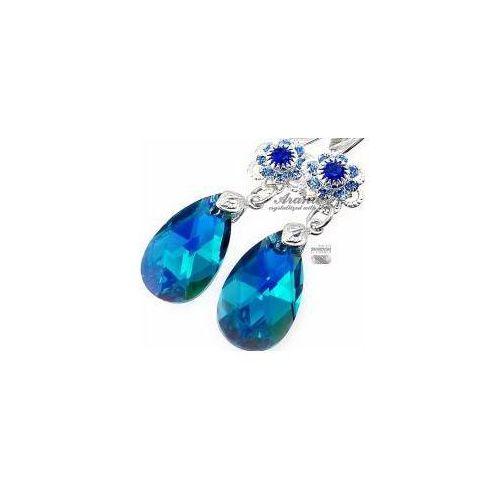 Kolczyki swarovski blue zircon feel srebro marki Arande