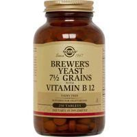 SOLGAR Brewer's Yeast with Vitamin B12 (Drożdże Piwne z Witaminą B12) - 250 tabletek wegetariańskich