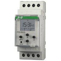 Zegar sterujący tygodniowy dwukanałowy włącz / wyłącz PCZ-522 F&F (5908312593256)