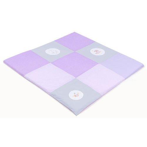 Mata podłogowa do raczkowania dla dzieci 120x120 lila s Mamo-tato