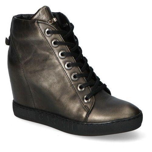 Sneakersy b4078/bb-l94 czarne/złote lico marki Carinii