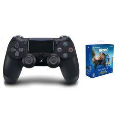 Sony kontroler bezprzewodowy dualshock 4 v2.0 czarny + pakiet dodatków fortnite