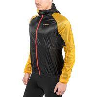 La Sportiva Blizzard Windbreaker Kurtka Mężczyźni, black/yellow XL 2020 Kurtki do biegania