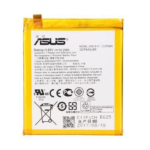 zenfone 3 / c11p1601 2650mah 10.2wh li-polymer 3.85v (oryginalny) marki Asus