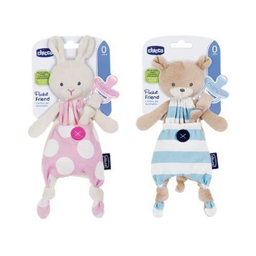 Chicco pocket friend 0m+ maskotka do smoczka dla dzieci 0m