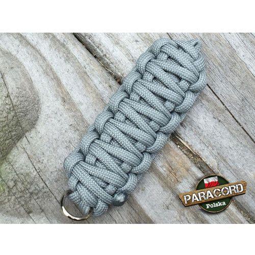 """Brelok survivalowy z paracordu 550 o splocie """"king cobra"""", kolor """"neutral grey"""" Paracord polska"""