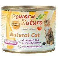 Power of Nature Natural Cat królik karma dla kotów w puszce 200g