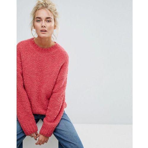 Weekday boiled wool knit jumper - pink