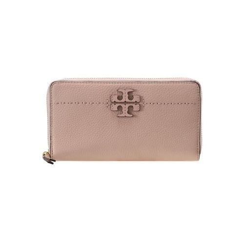 Tory Burch MCGRAW ZIP CONTINENTAL WALLET Portfel pink quartz
