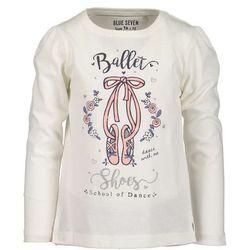 Blue Seven koszulka dziewczęca Ballet 128 biała, kolor niebieski