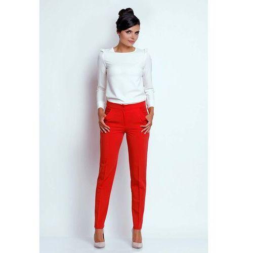 Czerwone eleganckie spodnie cygaretki marki Nommo