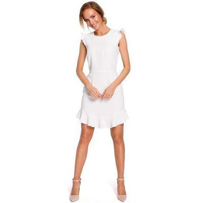 f57726d697 suknie sukienki biala prosta sukienka letnia ze zdjeciem z cyfrowki ...