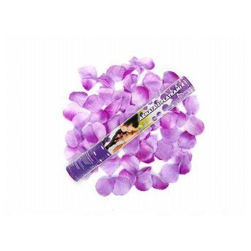 Tuba strzelająca, liliowe sztuczne płatki róż, 40 cm, 4 szt. marki Ap