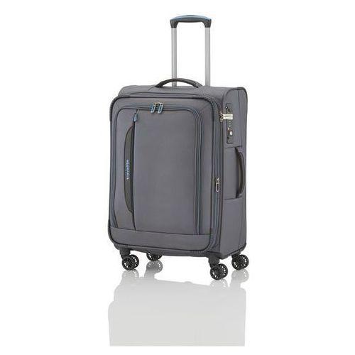 crosslite walizka średnia 69/80l anthrazit 4-koła - szary marki Travelite