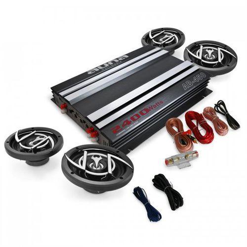 """4.0 Car Hifi Set """"Platin Line 400"""" wzmacniacz głośniki (4260275629405)"""