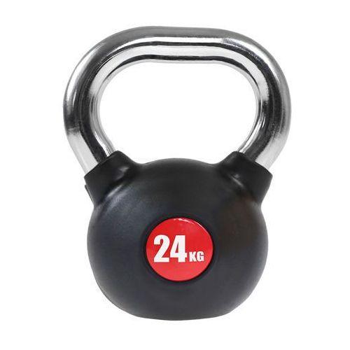 Hms kgc-24 - 17-6-213 - kettlebell guma z chromowaną rączką 24kg - 24kg