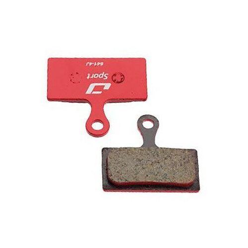 Jagwire Sport Semi-Metallic Okładzina hamulcowa dla Shimano   Rever Postmount 1 para, red 2019 Klocki do hamulców tarczowych
