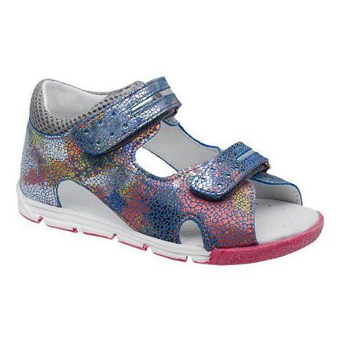 Sandałki dla dziewczynki 4952 niebieskie multikolor marki Kornecki