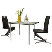 Vidaxl zestaw 2 krzeseł czarnych ze sztucznej skóry z podstawą w kształcie h (8718475889700)