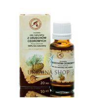 Olej Cedrowy Syberyjski Zimnotłoczony (z Orzechów Cedrowych) 100% Naturalny, Aromatika 50 ml