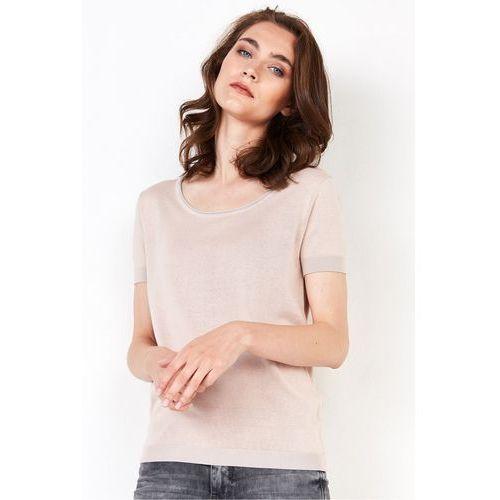 Jasnobeżowa bluzka z jedwabiem - Patrizia Aryton, kolor beżowy
