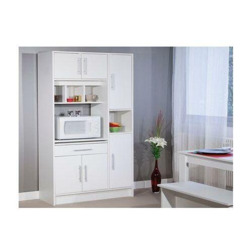Vente-unique Bufet kuchenny mady - 5 drzwi, 1 szuflada - kolor biały