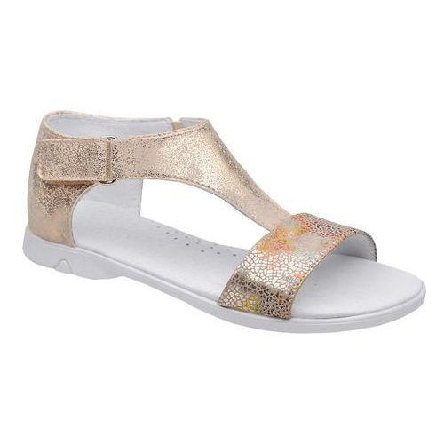 Sandałki dla dziewczynki KORNECKI 4750 Złote Multi - Złoty, kolor żółty