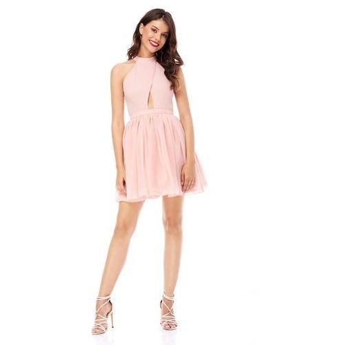 Sukienka plumeria w kolorze brzoskwiniowym marki Sugarfree
