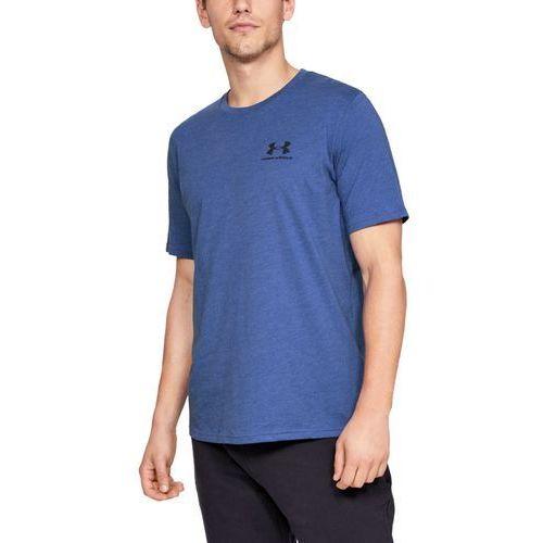 koszulka sportstyle left chest ss granatowa - granatowy marki Under armour