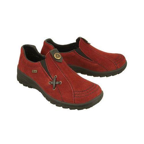 l7171-35 tex red, półbuty damskie - bordowy marki Rieker