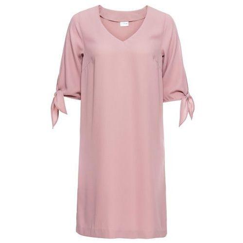 Sukienka dresowa bonprix truskawkowy melanż, 1 rozmiar
