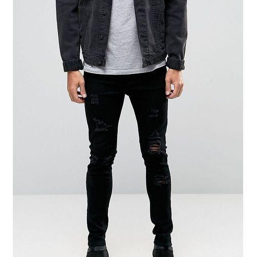 3f96b91e7b0a Zobacz ofertę Liquor N Poker skinny extreme rips jeans in washed black -  Black